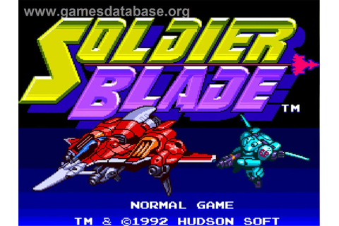 Soldier Blade - NEC TurboGrafx-16 - Games Database