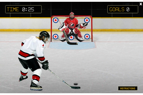 Hockey Canada Slap Shot Game - Play Free Online Hockey Games