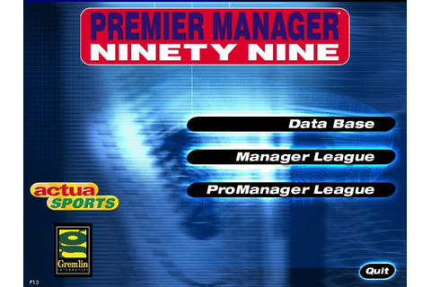 Premier Manager Ninety Nine Download (1999 Sports Game)