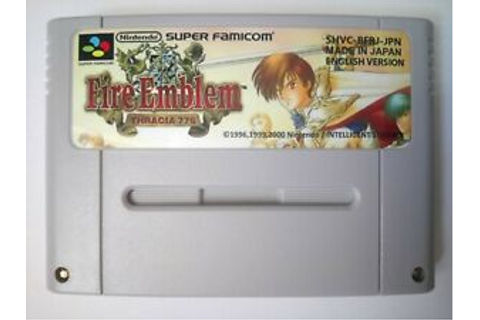 Fire Emblem Thracia 776 for Super Nintendo SNES NTSC J SFC ...