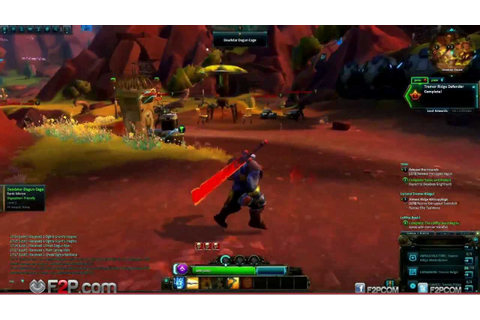 WildStar Exclusive gameplay footage Granok Warrior Soldier ...
