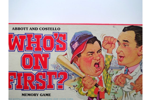 Vintage Abbott and Costello Who's On First Memory Game