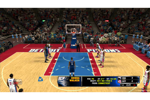 NBA 2K14: Charlotte Bobcats vs Detroit Pistons Gameplay ...