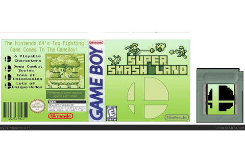 Super Smash Land Game Boy Box Art Cover by darthnater
