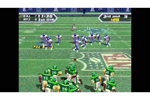 NFL Quarterback Club 97 ... (PS1) 60fps - YouTube
