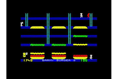 Barmy Burgers ZX Spectrum - YouTube