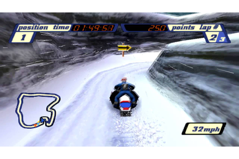 Sled Storm Gameplay Championship Open Mountain (PSX,PS ...