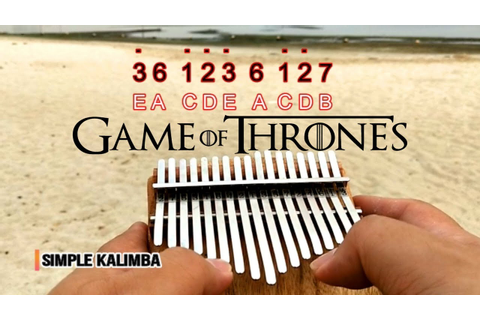 Game Of Thrones Theme Song - Kalimba Easy Practice - YouTube