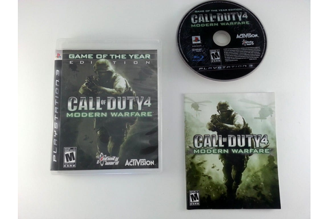 Call of Duty 4 Modern Warfare Game of the Year Edition ...