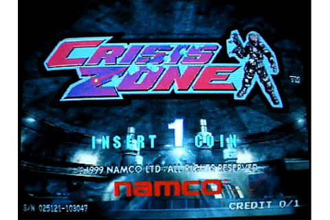 Crisis Zone arcade video game by NAMCO (1999)