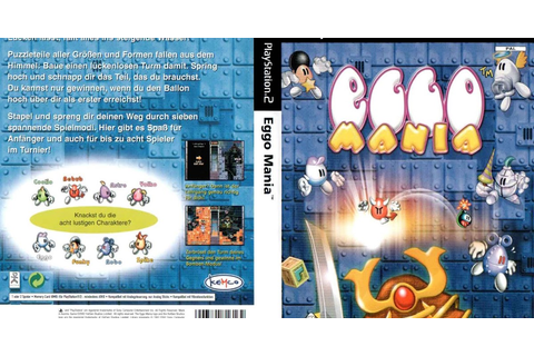 Base Um Gtba: Eggo Mania - Capa & Label Game PS2
