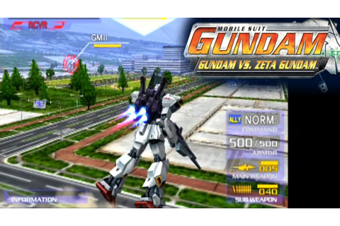 Mobile Suit Gundam: Gundam vs. Zeta Gundam ... (PS2) - YouTube