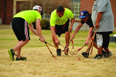 Native-American Student Association hosts stickball game ...