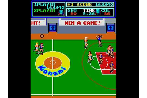 Arcade Game: Super Basketball (1984 Konami) - YouTube
