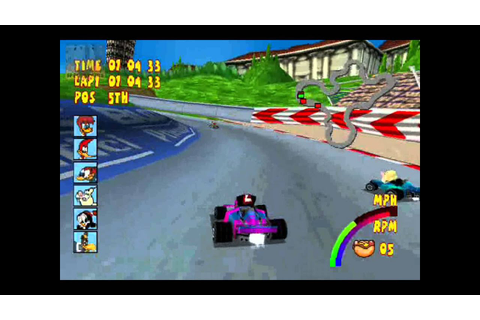 Play Game Woody WoodPecker Racing PS1 - YouTube