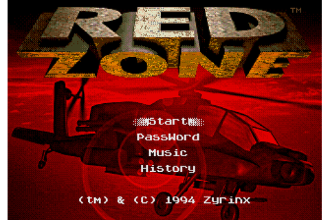 Red Zone (1994) by Scavenger / Zyrinx Mega Drive game