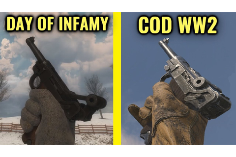 COD WW2 vs Day of Infamy - Weapon Comparison - YouTube