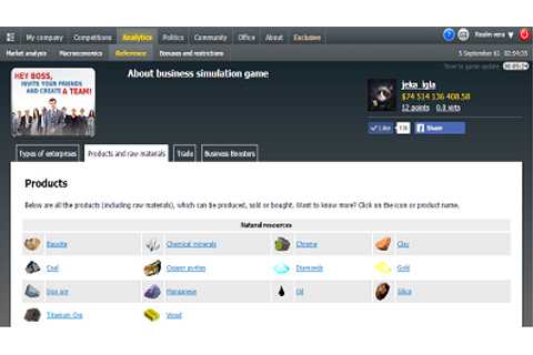 Virtonomics online strategy business game || Screenshots