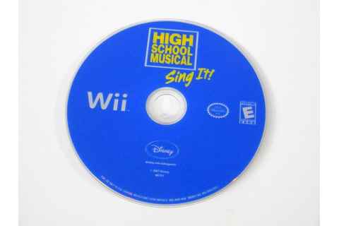 High School Musical Sing It game for Wii (Loose) | The ...