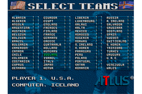 World Soccer '94 - Road to Glory (USA) ROM