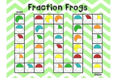 Fraction Frogs Board Game by Teaching in QLD | Teachers ...