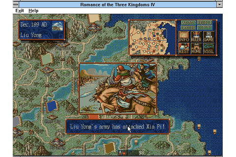 Romance of the Three Kingdoms IV: Wall of Fire (1996 ...