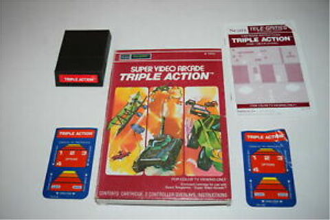 Triple Action Sears Intellivision Video Game Complete in ...