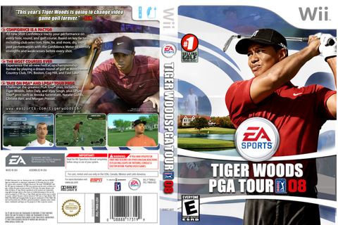 Tiger Woods PGA Tour 08 - Nintendo Wii Game Covers - Tiger ...