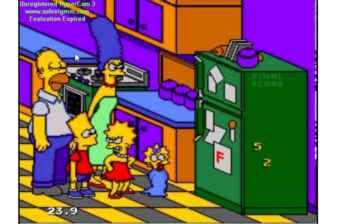 the simpsons bart's nightmare game over genesis - YouTube