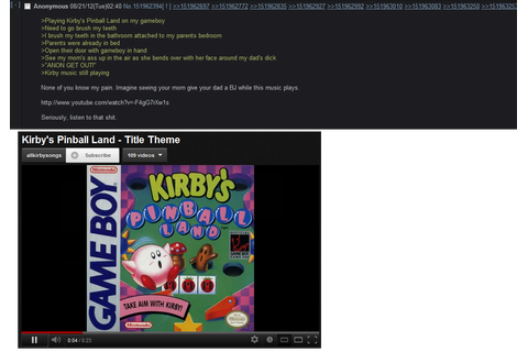 Kirby's pinball land - posted in the classic4chan community