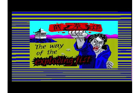 Way Of The Exploding Fist: Zx Spectrum (Loading & Gameplay ...
