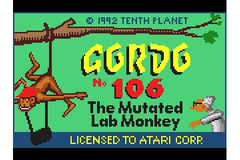 Atari Lynx Longplay [39] Gordo 106: The Mutated Lab Monkey ...