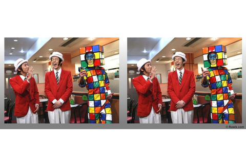 Spot the difference game with Rubik's Cubes