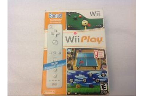 Wii Play Bundle w/ Bonus Wii Remote - Nintendo Wii Game | eBay