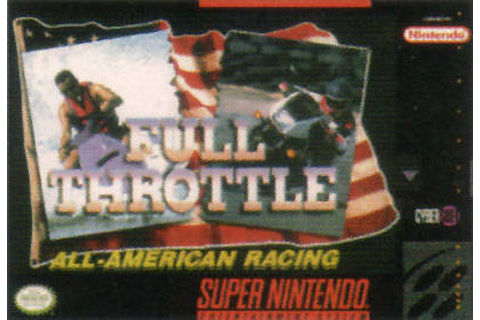Retro Game Guide - SNES - Full Throttle All-America Racing