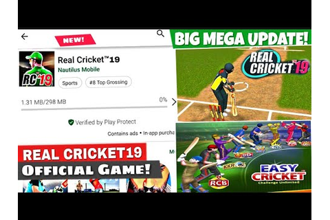 Real Cricket 19 Game Big Mega update 2019 | Top Features ...
