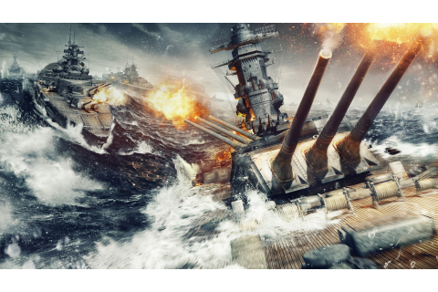 Wallpaper World of Warships, game, MMORPG, simulator, sea ...