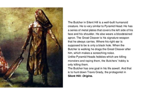The Butcher from Silent Hill Heroes and Villains Therese L