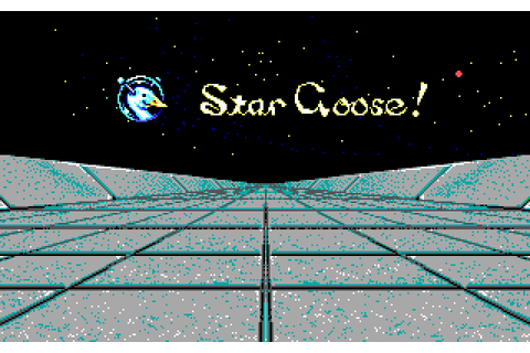 Star Goose! (1988) by Logotron MS-DOS game