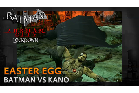 Batman: Arkham City Lockdown - Kano vs Batman - Easter Egg ...