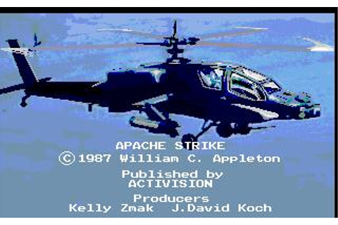 Apache Strike Download (1989 Simulation Game)
