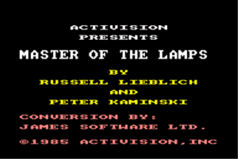 Download Master of the Lamps (Amstrad CPC) - My Abandonware