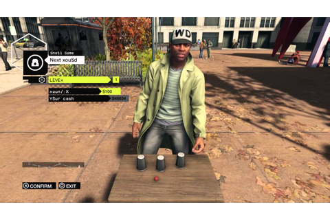 WATCH DOGS street hustler, betting on cup & ball game ...