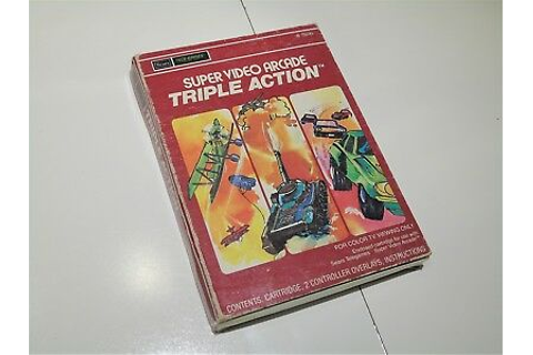 Triple Action Intellivision Sears Telegames Video Game ...
