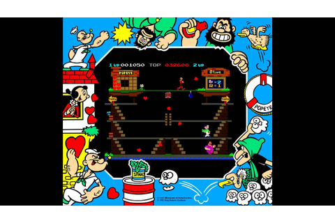 Popeye (ポパイ Popai) - (1982) Arcade Game - Nintendo - YouTube