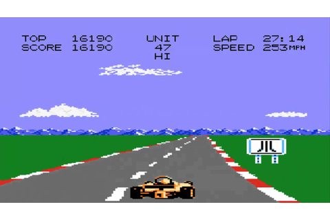 Pole Position 2 gameplay - Atari 7800 - YouTube