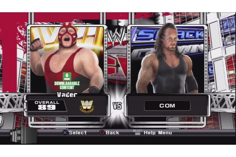 WWE Smackdown vs Raw 2009 Character Select Screen ...