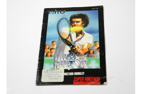 Manual - International Tennis Tour - Snes Super Nintendo