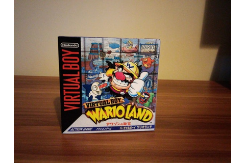 Virtual Boy Wario Land Repro Box No Game Included