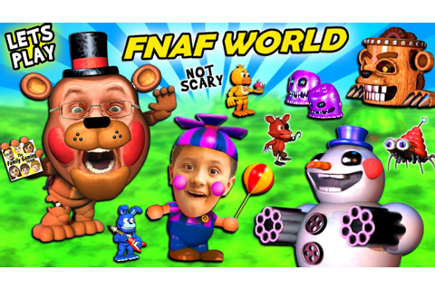FNAF WORLD = CUTE and SQUISHY! FGTEEV Duddy & Mike Play a ...